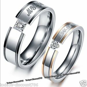 My Love Rings Engraved Promise Valentine Gifts For Her Him Wife