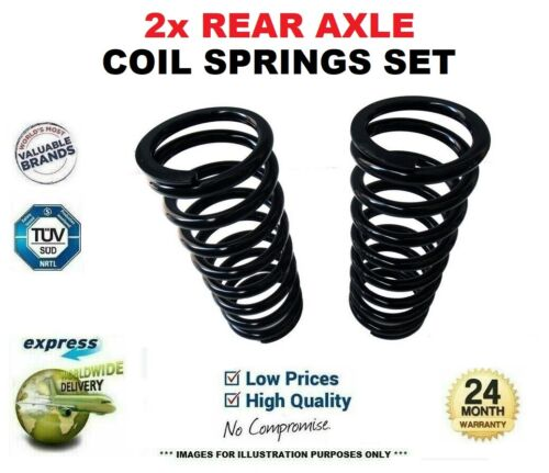 2x REAR Axle COIL SPRINGS for TOYOTA AVENSIS 1.8 2003-2008