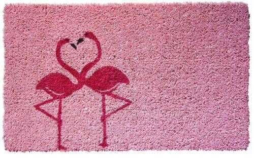 Door Mat Flamingo Bird Rug Natural Coconut Fiber Coir Home Decor Gift Her New