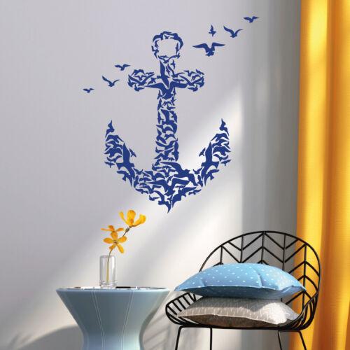 Wandtattooo Anker aus Vögeln Maritim 11191 Freiheit Meer Adventure Wanderlust