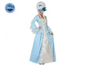 Fiable Déguisement Femme Marquise Bleu Xl 44 Princesse Courtisane Reine Neuf Pas Cher Circulation Sanguine Tonifiante Et Douleurs D'ArrêT