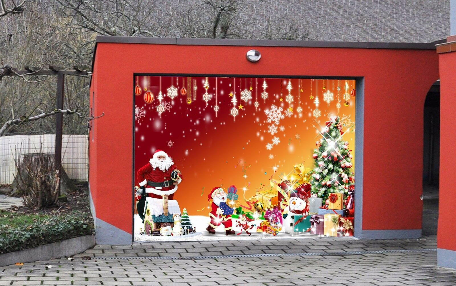 3D Christmas 325 Garage Door Murals Wall Print Decal Wall Deco AJ WALLPAPER UK