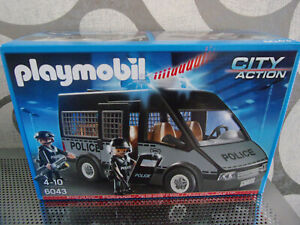 Playmobil-City-Action-6043-Polizei-Mannschaftswagen-Neu-amp-OVP