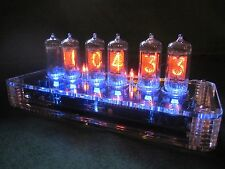 PV Electronics QTC Nixie clock Z5700 tubes +Plexi Case +PSU Fully Built (1 of 3)