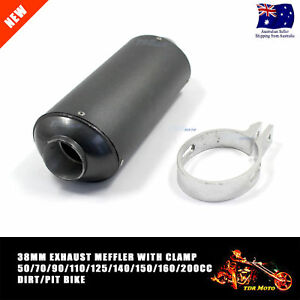GRY 38mm Muffler Exhaust Pipe & Clamp 125cc 140cc 150cc 200cc Quad Bike Dirt ATV