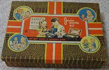 "Vintage 1950s Junior Doctor Kit ""TIME CAPSULE"" Hasbro # 1340 Medical Toy"