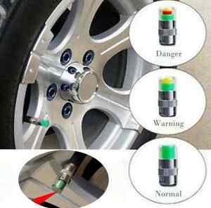 1Set-4pcs-Auto-Wheel-Druck-Kappen-Reifenluft-Staub-Display-Sensor-Ventil-Reifen