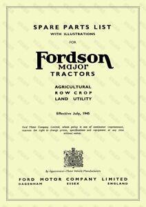 Fordson Major Tracteur Illustré Liste Des Pièces De Rechange - 60 Pages-afficher Le Titre D'origine Nbbqqgiw-07223647-542661469