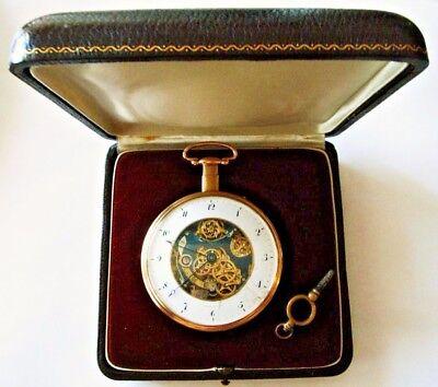 ANTIQUE BREGUET & FILS, PARIS, N 2430,REPEATER SKELETON GOLD POCKET WATCHE RARE