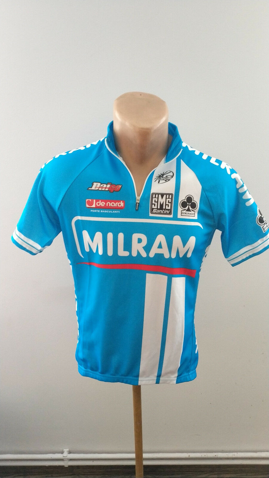 NEW with tags Santini  SMS Cycling Bike Jersey MILRAM bluee White Adult Small 42