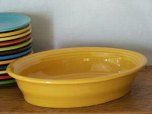 Fiesta-MARIGOLD-Small-Oval-Bowl-Vegetable-Bowl-Discontinued-Color