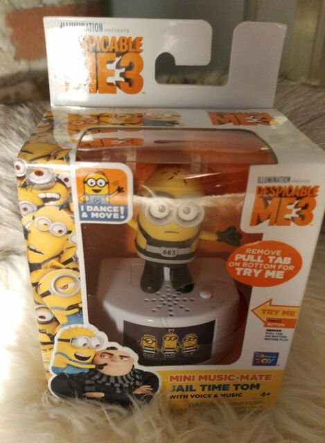 NEW Despicable Me 3 Talking Action Figure Jail Time Tom NIB Doll