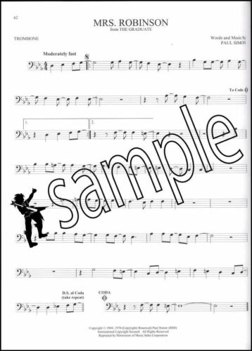 101 Movie Hits for Trombone Sheet Music Book Skyfall Mission Impossible