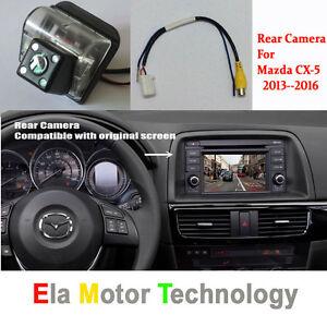 Car Rear Reverse Camera For Mazda CX 5 CX-5 CX5 2013~2016 RCA& Original Screen