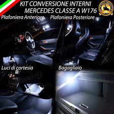 KIT LED INTERNI MERCEDES CLASSE A W176 ANT+POST+PORTAOGGETTI+BAGAGLIAIO NO ERROR