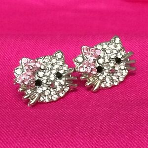 Hello Kitty Rhinestone Earrings