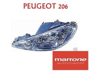 FARO PEUGEOT 206 /'98-/'06 H7//H7 DESTRO