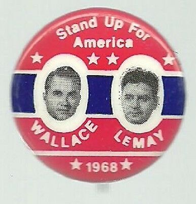 GEORGE WALLACE, LEMAY STAND UP FOR AMERICAN JUGATE PIN