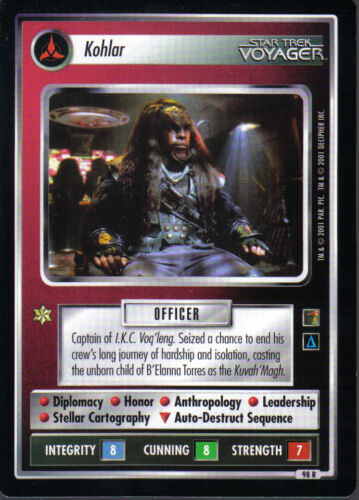 STAR TREK CCG THE BORG RARE CARD KOHLOR