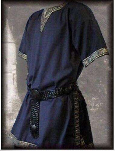 Medieval Tunic Brocade Braided  Viking Saxon LARP SCA Aristocrat Chevalier