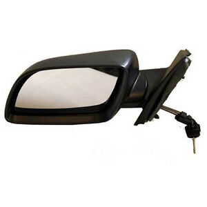 vw polo 9n bj 01 bis 05 spiegel au enspiegel mechanisch manuel schwarz links ebay. Black Bedroom Furniture Sets. Home Design Ideas