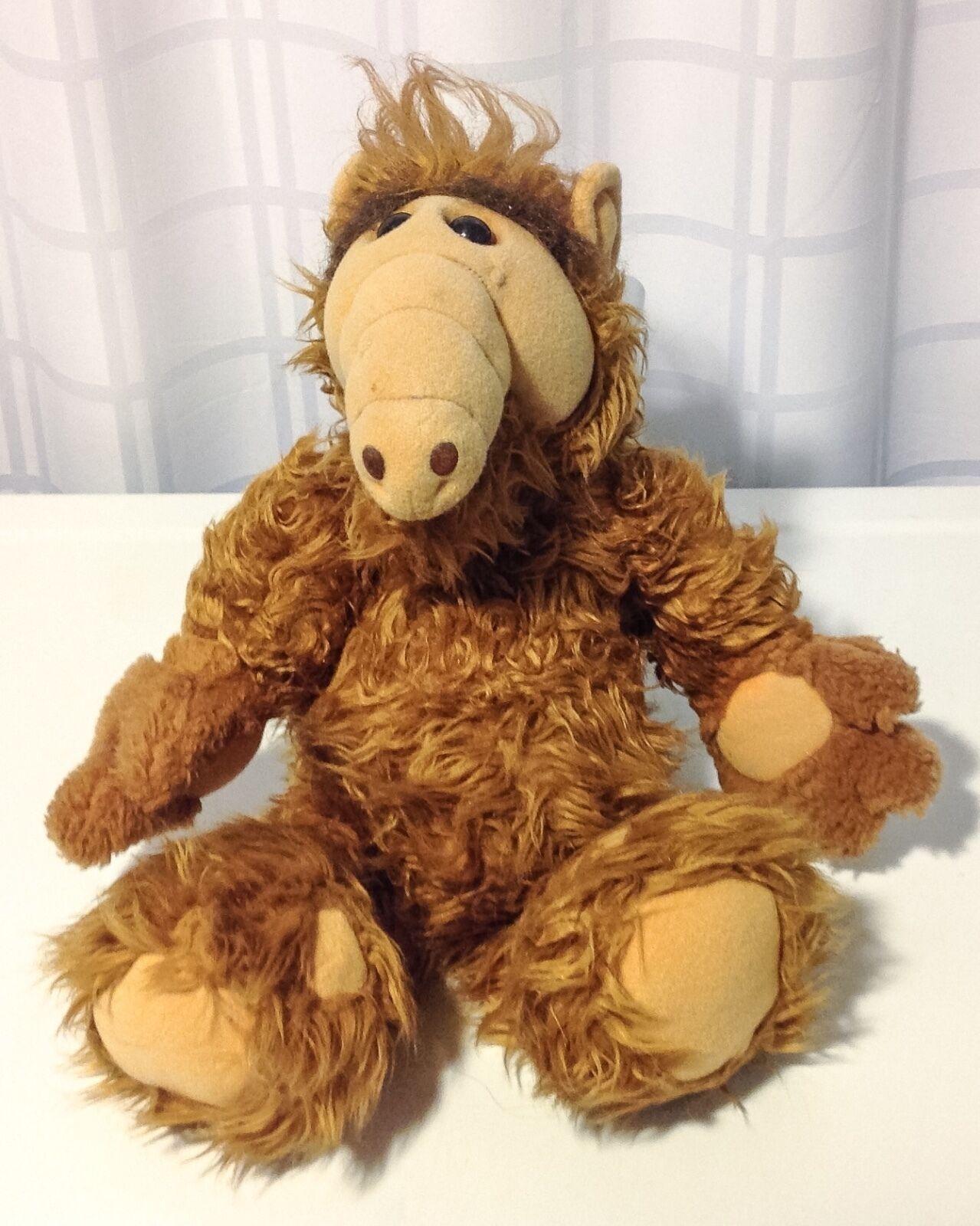 Vintage 1986 18  ALF Coleco Alien Life Form Plush Stuffed Animal Melmac