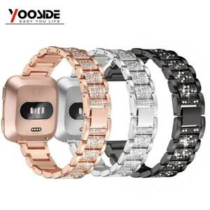 Details about For Fitbit Versa Bling Band Strap Stainless Steel Diamond  Bracelet Watch Bands