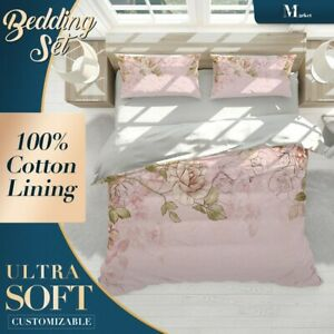 Overhang-Rose-Pink-Kids-Colorful-Quilt-Cover-Sets-with-Zipper-And-Pillowcase