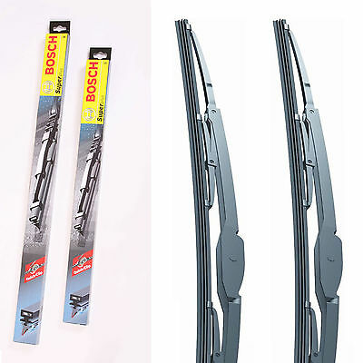 "21"" 19"" Front Pair Bosch Super Plus Wiper Blades Fits Skoda Fabia"