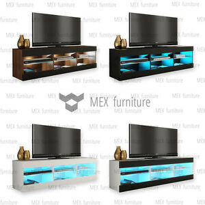 Image Is Loading Modern TV Unit Cabinet Stand Sideboard Cupboard FREE