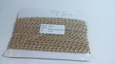 Cream /& Beige #22D439 Porter Valmic Scroll Gimp Braid Trim 10 Meters