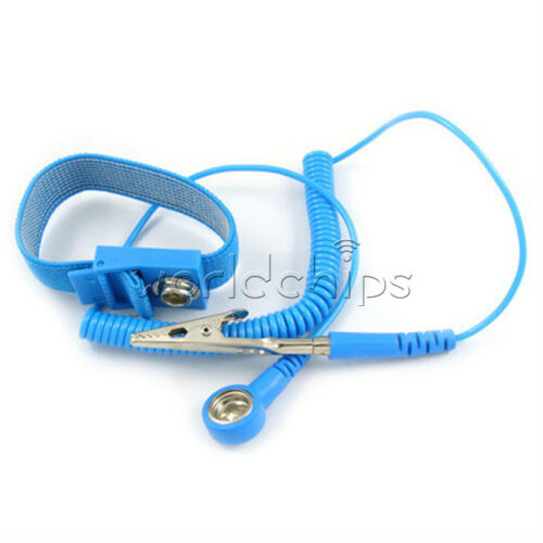 2Pcs Anti Static ESD Wrist Strap Discharge Band Grounding Prevent Static Shock