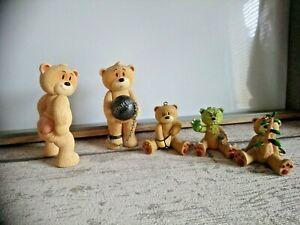 Lot de 5 figurines ours collection humoristique Bad taste bears