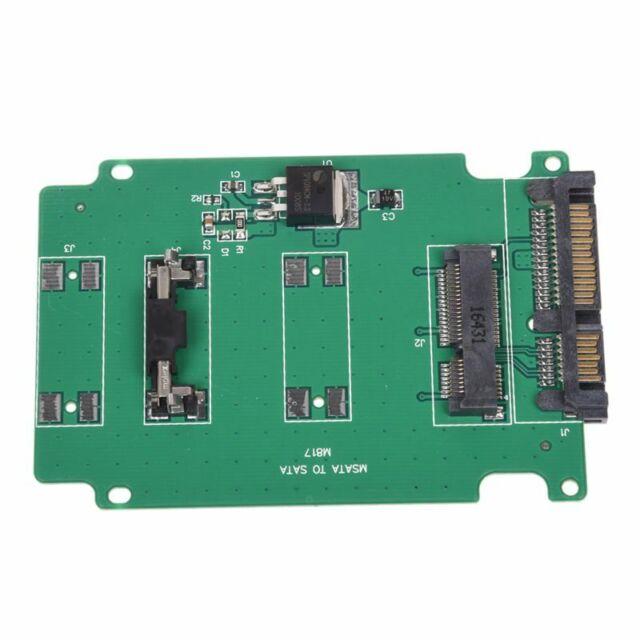 "mini MSATA PCI-E SSD 50mm to 2.5"" SATA 7+15Pin Adapter Converter Card J7Z3"