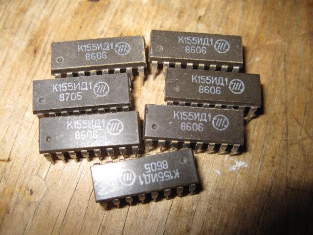 KM155ID1 = 74141 K155ID1 SN74141J DM74141N MH74141  Nixie Driver  1 pcs