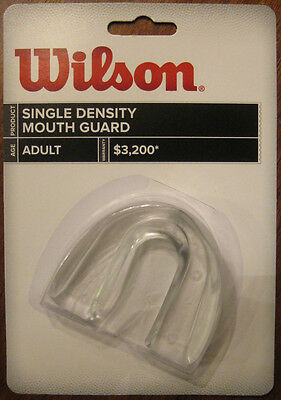 Lot of 2 Mouth Guard Adult Clear Wilson Football Mouthguard protect teeth
