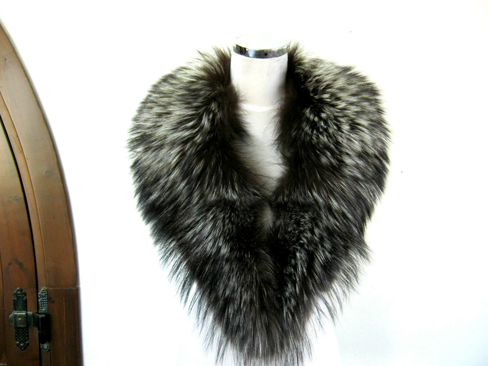 VOLPE silverATA FRABA Pelliccia NUOVA NEW FOX Real Fur ORIGINALE