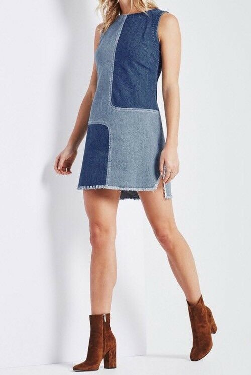 Adriano goldschmied AG Denim Jean INDIE Dress Size Med NWT Patchwork