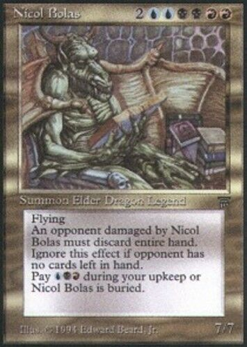 1x Nicol Bolas NM-Mint, NM-Mint, NM-Mint, Italian Legends MTG Magic 853e95