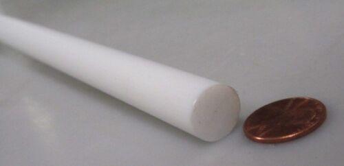 "Extruded 2 Unit 1//2 Teflon PTFE Virgin White Rods .500/"" Diameter x 72/"" Long"