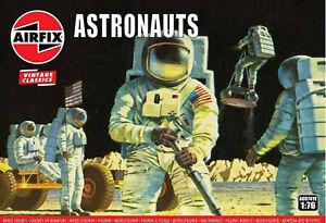 Airfix-Vintage-57-US-Apollo-Astronauts-1-76-Scale-Plastic-Model-Figures-A00741V