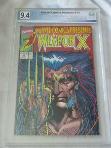 Hot-Marvel-Comics-Presents-74-Weapon-X-PGX-9-4-not-CGC-or-CBCS