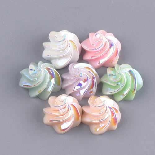 2596 20 pièces Crème Cake 15x15mm Cabochons Résine Resin Multicolores à partir de scrapbooking