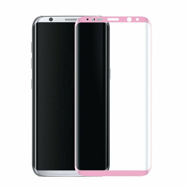 watch 0134e e2e56 Samsung Galaxy S8 Plus Full Cover Tempered Glass Screen Protector Rose Pink
