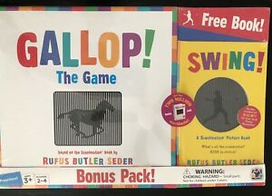 Gallop-The-Game-amp-Preschool-Book-034-Swing-034-Scanimation-by-Rufus-Butler-Seder-NEW