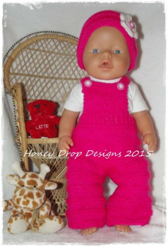 8 PAPER KNITTING PATTERNS For Baby Born//17 Inch Dolls Honeydropdesigns Set