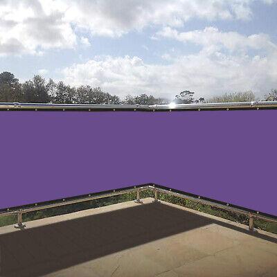 Balkon Sichtschutz Zaun Premium Balkonbespannung mit Ösen PVC Individualisieren