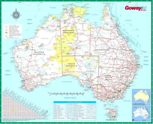 "021 Australia Map Kangaroo Canberra Sydney Scenery 29/""x24/"" Poster"