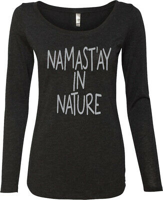 womens yoga tshirt namast'ay in nature lightweight long