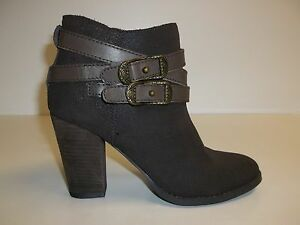 Reba Size 8 M ZANIA Brown Leather Ankle Boots New Womens Shoes NWOB